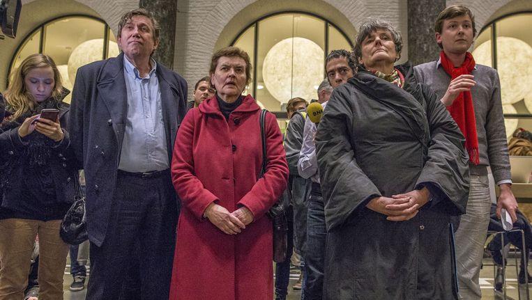Het College van Bestuur met bezetter Beeld Amaury Miller (www.amaurymiller.nl)