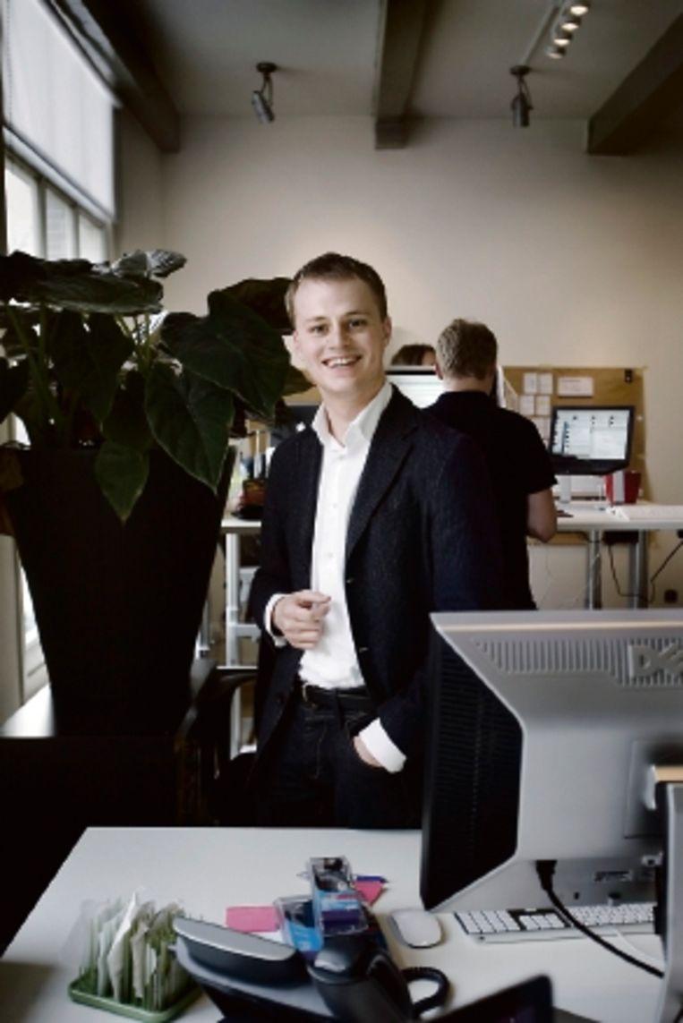 Sander Koppelaar van Next2News ( FOTO WERRY CRONE, TROUW) Beeld