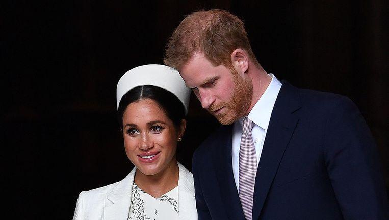 In Groot-Brittannië gaat het gerucht dat de baby van Harry en Meghan al geboren zou zijn. Beeld afp