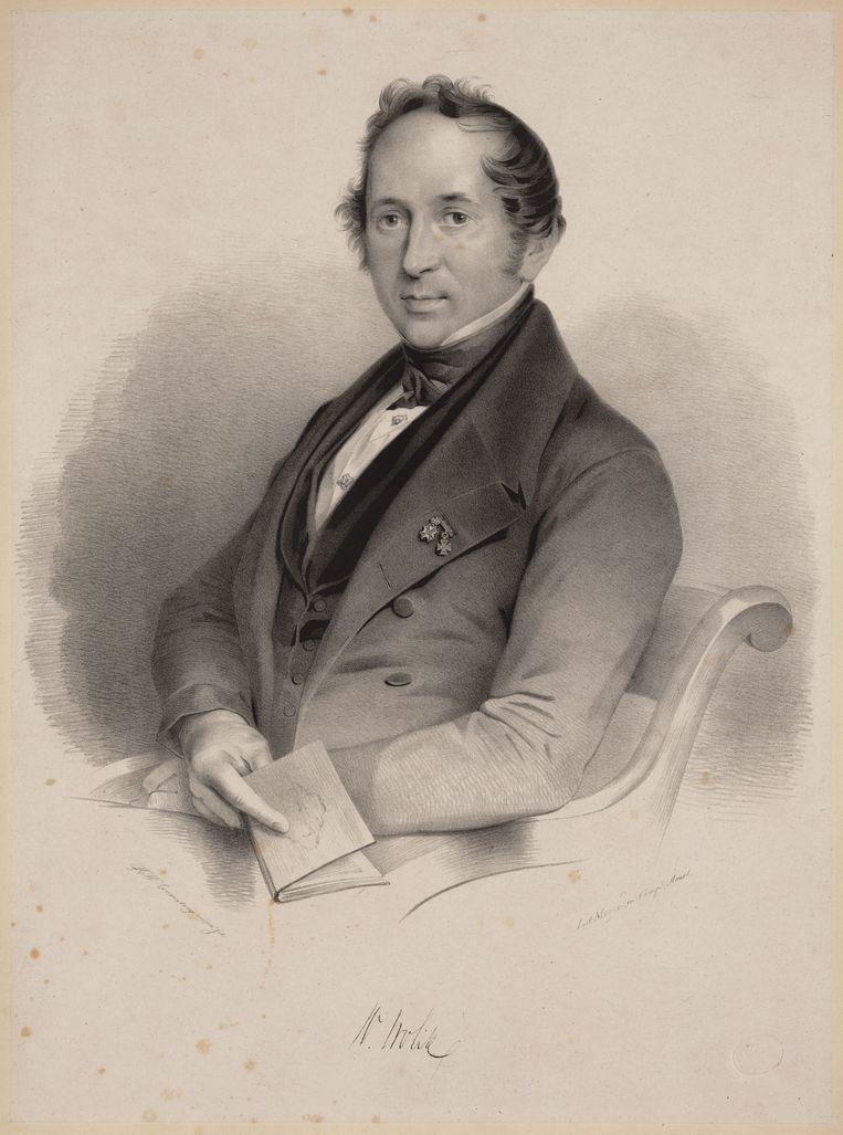 Willem Vrolik (1801-1863), zoon van Gerardus en hoogleraar in de medicijnen te Amsterdam (1843-1863). Beeld Couwenberg, Henricus Wilhelmus / collectie stadsarchief Amsterdam