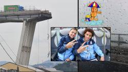 Ex-ploegmaat van Lombaerts en Witsel ontsnapte maar net aan immens drama in Genua (en hij filmde de toestand op de snelwegbrug ook)