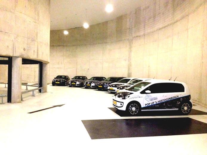 De proefritmodellen in de parkeergarage Sint-Jan