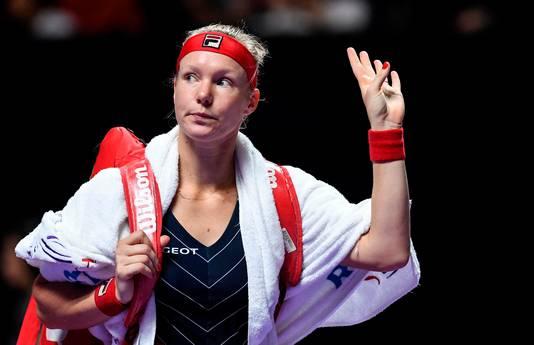 Kiki Bertens moest vanmiddag opgeven in haar partij tegen Belinda Bencic.
