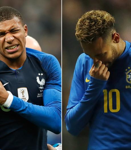 Rotavond voor PSG: Neymar en Mbappé met blessures naar de kant