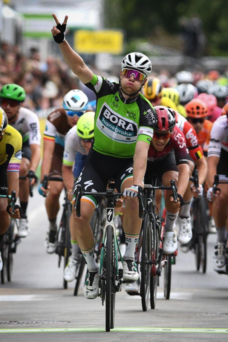 Sam Bennett pakt ook de tweede etappe in de Binckbank Tour, met finish in Ardooie. Beeld David Stockman / Belga