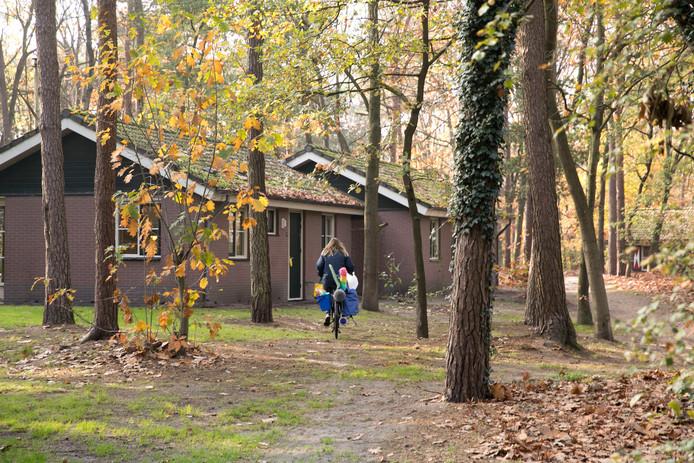 Huisjes op vakantiepark De Bikkels. Roompot heeft het park gesloten omdat Deurne niet wilde meewerken aan grootschalige huisvesting van arbeidsmigranten.