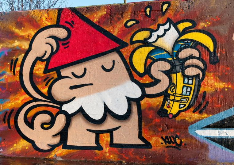 Streetart van Kbtr Beeld Kees Kamper
