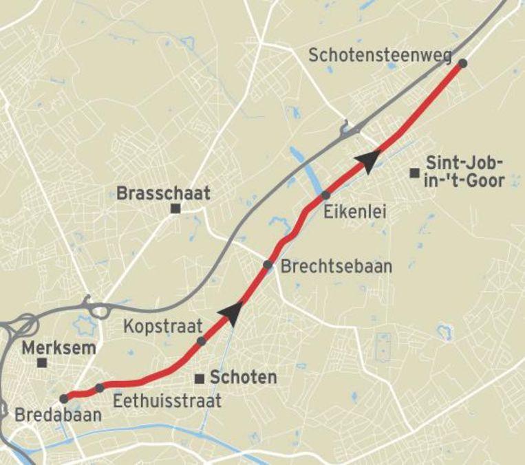 De vluchtweg van de 27-jarige man uit Mechelen.