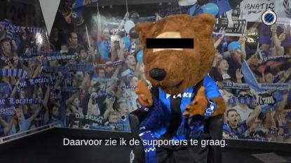 "Mascotte Club Brugge reageert met ludiek filmpje op controverse met Genk-fans: ""Ik heb die gasten graag"""