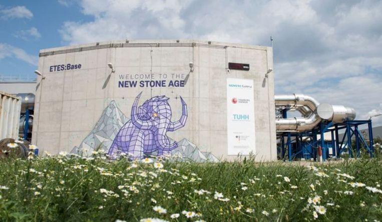 Vorig jaar werd in Hamburg de eerste 'stenenbatterij' van Siemens Gamesa als proefproject in gebruik genomen. Beeld Siemens Gamesa