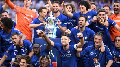 Belgen doen het voor Chelsea in FA Cup: Hazard scoort vanop de stip, Courtois houdt alles tegen