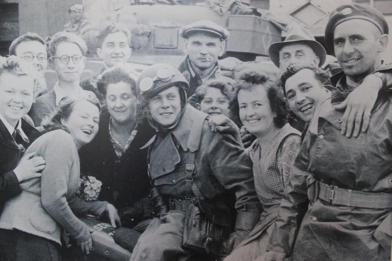 Een beeld van een bevrijdingsfeest van 75 jaar geleden.