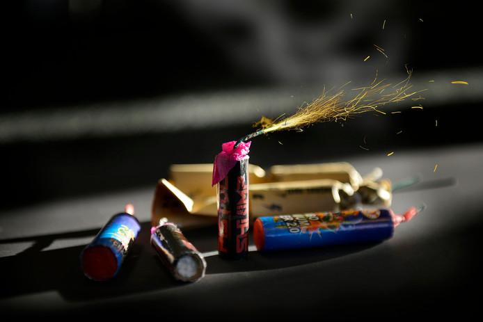 Illegaal vuurwerk.