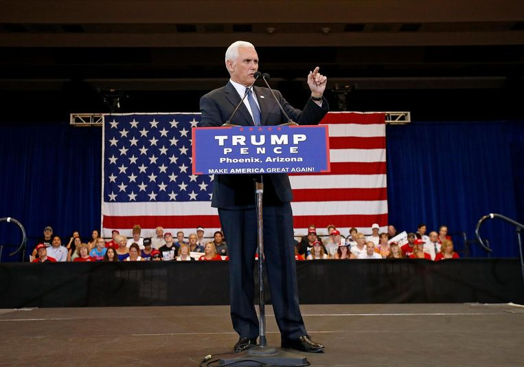 Mike Pence. Beeld null
