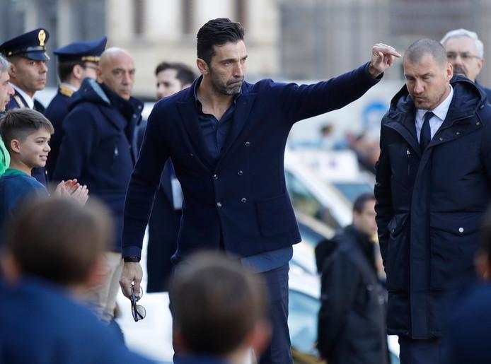 Een zichtbaar emotionele Gianluigi Buffon.