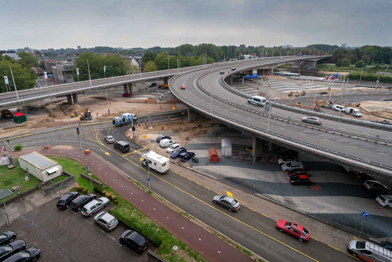 De nieuwe verkeerssituatie rond Blauwe Golven in Arnhem.