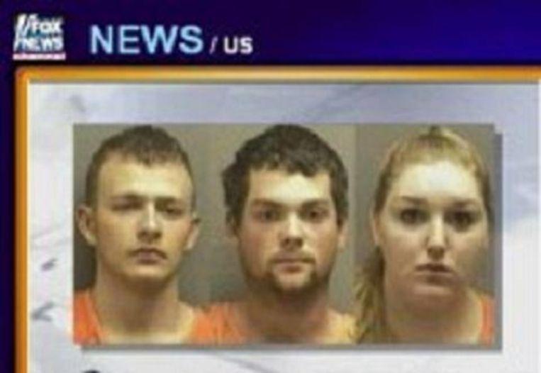 De drie verdachte medeplichtigen op een rijtje.