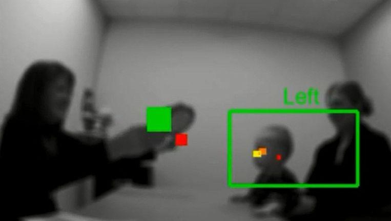 Een beeld uit één van de tests die geregistreerd werden door de computer.