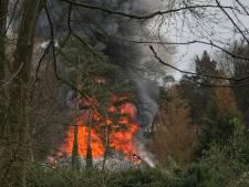 Grote brand in Doorwerth, rookpluim boven De Waayenberg