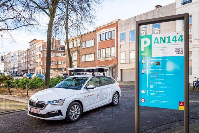 De scanwagen voor parkeercontroles in Antwerpen.