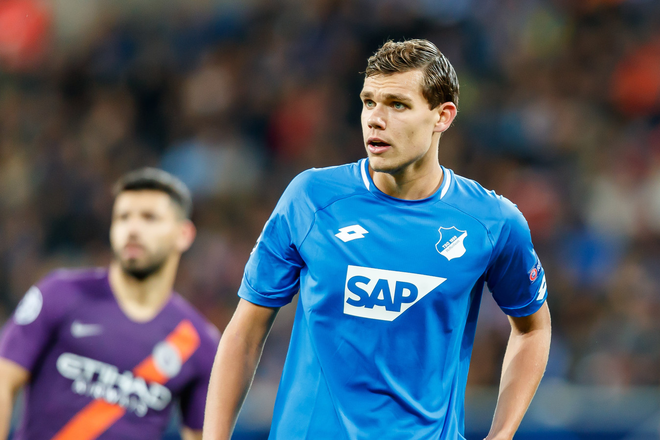 Justin Hoogma in het shirt van Hoffenheim.