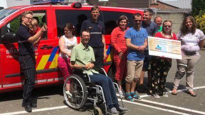 Brandweer schenkt cheque van 1.250 euro aan Optempo