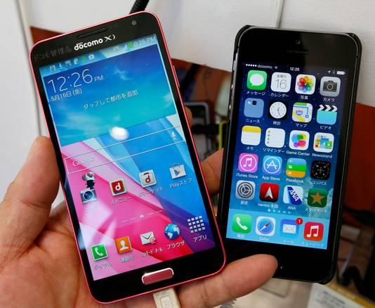 Apple en Samsung maken de dienst uit op de werkvloer in Nederland.