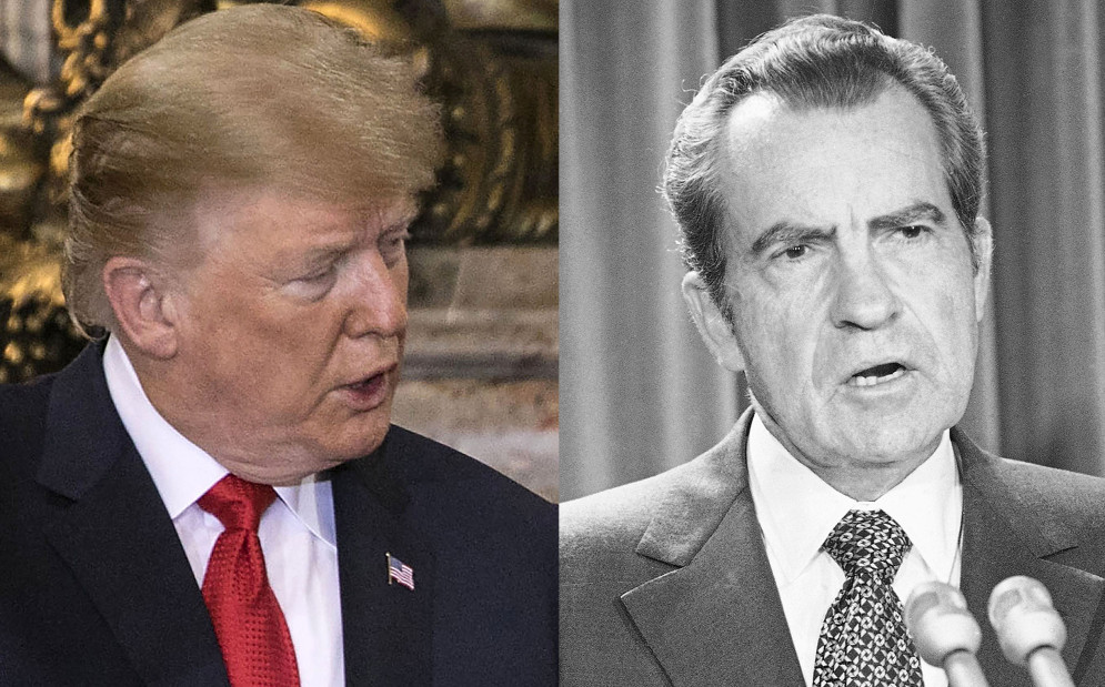 Donald Trump en Richard Nixon.