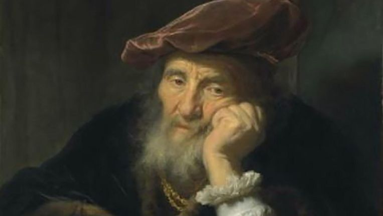 Een oude man, leunend uit een raam van Govert Flinck. Beeld Christie's