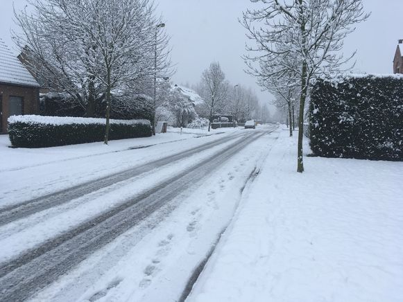 Mariakerke, 10 centimeter sneeuw