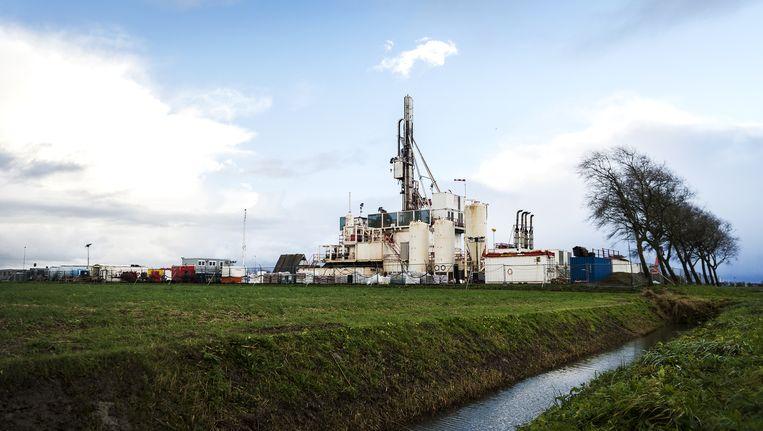 Een meetlocatie van de NAM in Groningen. Beeld anp