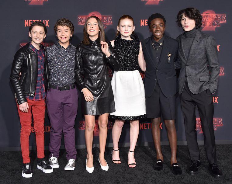 De jonge acteurs uit 'Stranger Things'.