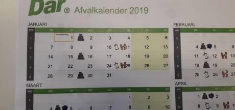 Polderbreed wil afvalkalender in Berg en Dal weer huis-aan-huis op papier