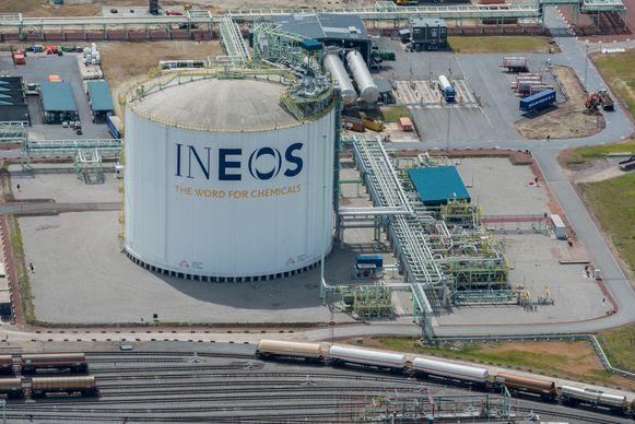 De huidige installaties van Ineos in de Antwerpse haven.