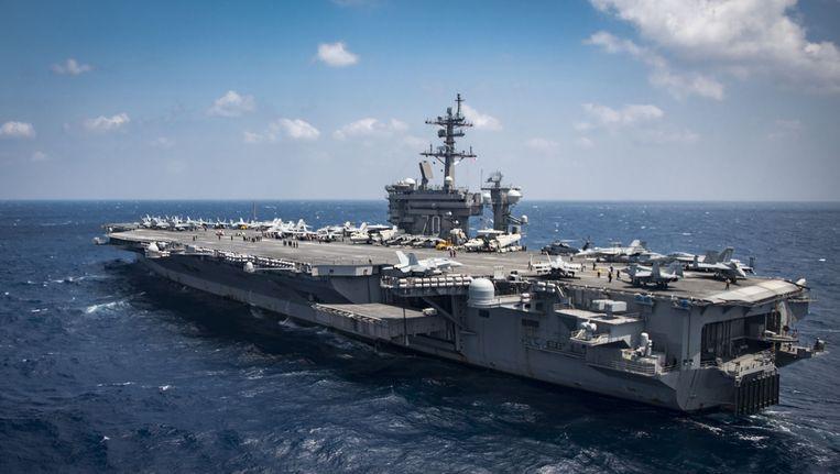 De USS Carl Vinson.
