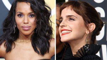 De korte froefroe van Emma & de paarse eyeliner van Kerry: de Golden Globes in 7 beautylooks