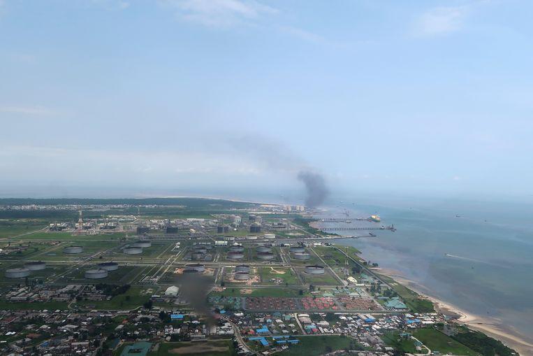 Archiefbeeld. De Bonny olieterminal in de delta van de Niger. Het complex wordt door Shell gerund.