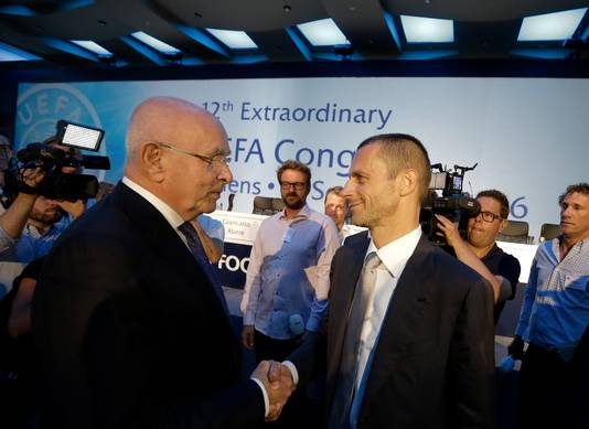 Van Praag feliciteert Ceferin met zijn overwinning