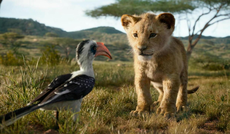 Het leeuwenwelpje Simba in de nieuwe, 'fotorealistische' versie van 'The Lion King'.