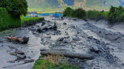 Twee vermisten na modderstroom in Zwitsers stadje