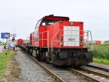 Goederentrein loopt uit de rails bij Westdorpe
