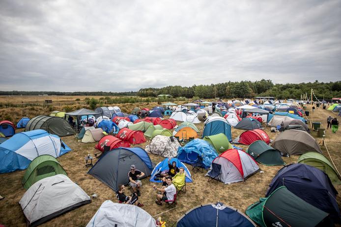 Nieuw was de camping op het festival
