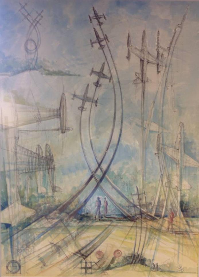 Deze schets van Van Nes toont hoe het beeld er ongeveer uit komt te zien.