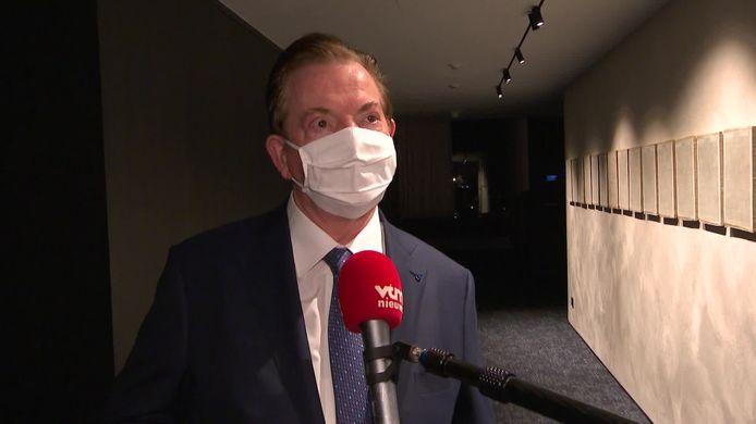 Antwerp-voorzitter Paul Gheysens in het gebouw van News City.