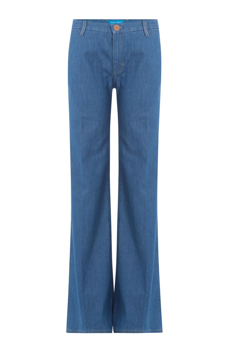 Flared denim van M.I.H Jeans, € 299. stylebop.com Beeld .