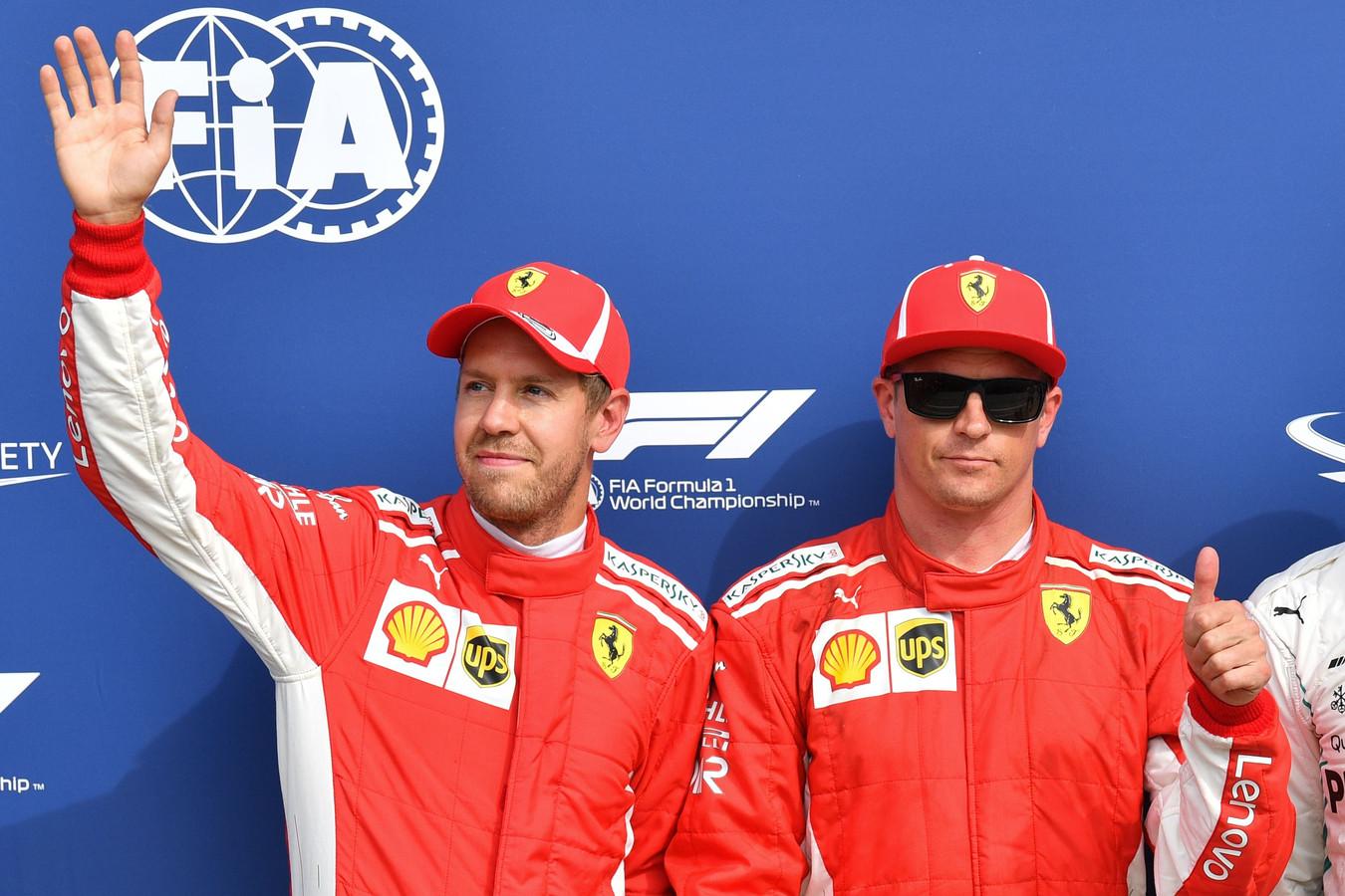 Waar kiest Ferrari vanmiddag voor: mag polesitter Räikkönen voor de winst gaan of moet hij plaats maken voor Vettel?