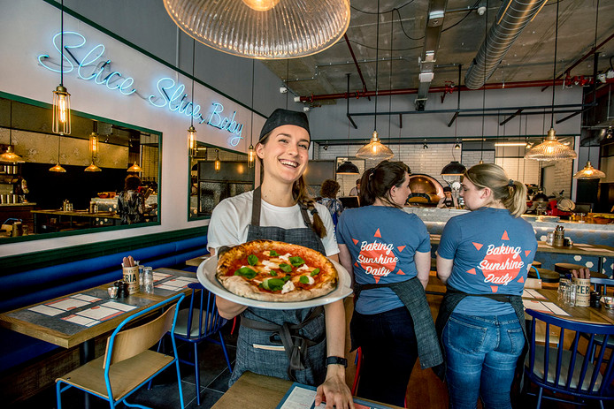 De pizzeria in Tilburg.