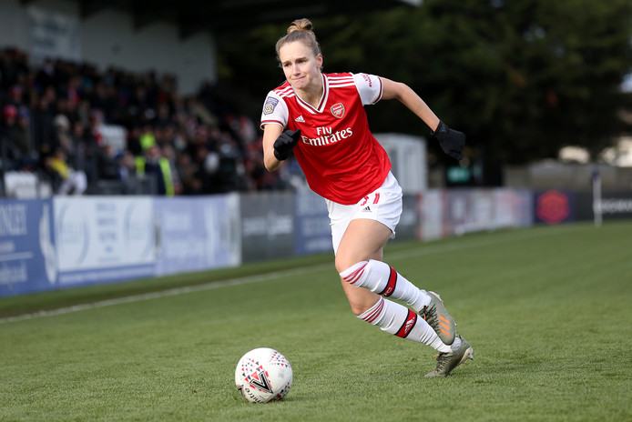 Vivianne Miedema in actie namens Arsenal.
