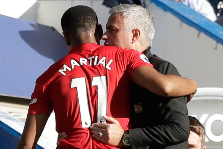 Anthony Martial scoorde twee keer.