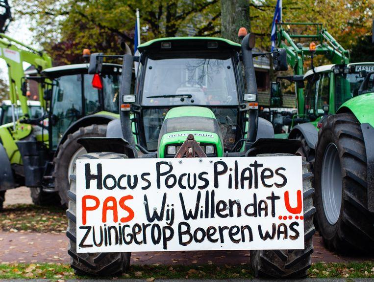 Eerder protest van boeren. Beeld Loek Buter